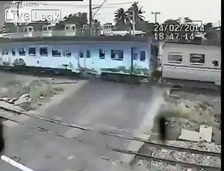 Motorcyclist Hit and Killed by Train.