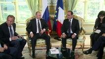 Putin y Hollande hablan en París sobre Siria