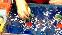 Quelques gouttes de peinture dans l'eau pour créer des peintures magiques!!!