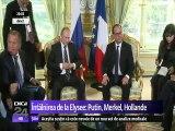 Ruşii continuă bombardamentele în Siria. Situația, discutată la Paris de F. Hollande, V. Putin și A. Merkel