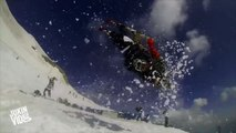 Backflip Trio On Snow Skis | Tandem Tricks