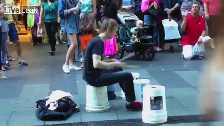 Incredibly Fast Street Drummer In Sydney