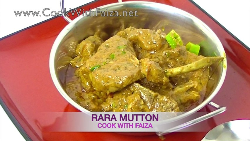 RARA MUTTON *COOK WITH FAIZA*