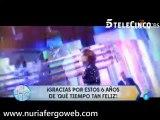 Nuria Fergó: Vídeo del sexto aniversario del programa QTTF (Telecinco)