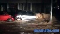 Déluge sur les Alpes-Maritimes: les vidéos des internautes