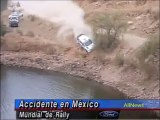 Impresionante accidente de Rally en México, caen a un lago y se hunden - Impressive accident in Rally