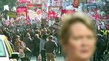 Manchester: manifestation en marge du congrès conservateur
