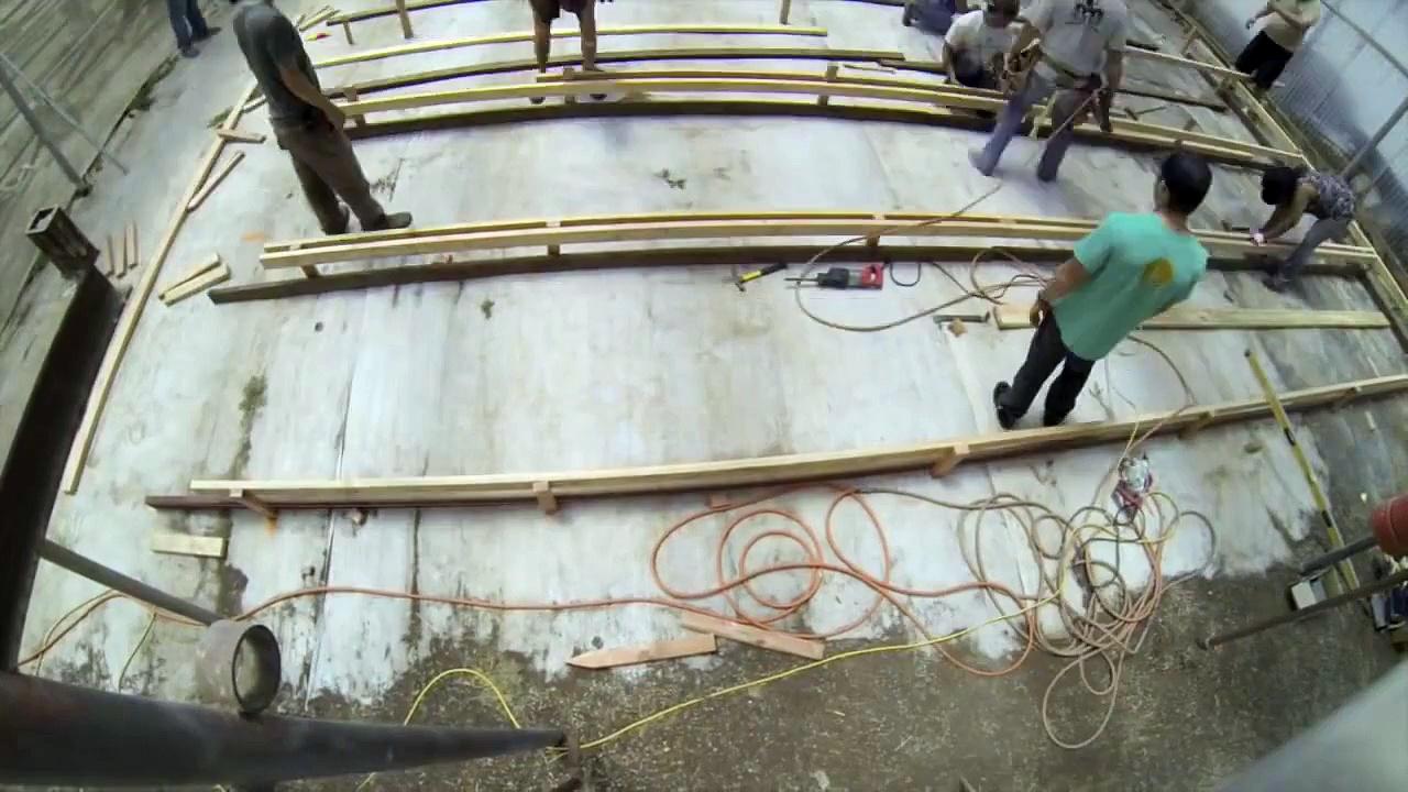 World's Largest Aquaponics Greenhouse Build Timelapse
