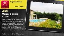 A vendre - Maison - SAINT ROMAIN DE JALIONAS (38460) - 6 pièces - 175m²