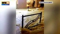 Intempéries:  les images des témoins BFMTV montrent la brutale montée des eaux