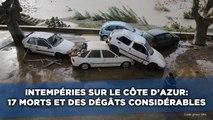 Intempéries sur le Côte d'Azur: 17 morts et des dégâts considérables