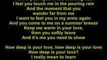 how deep is your love lyrics