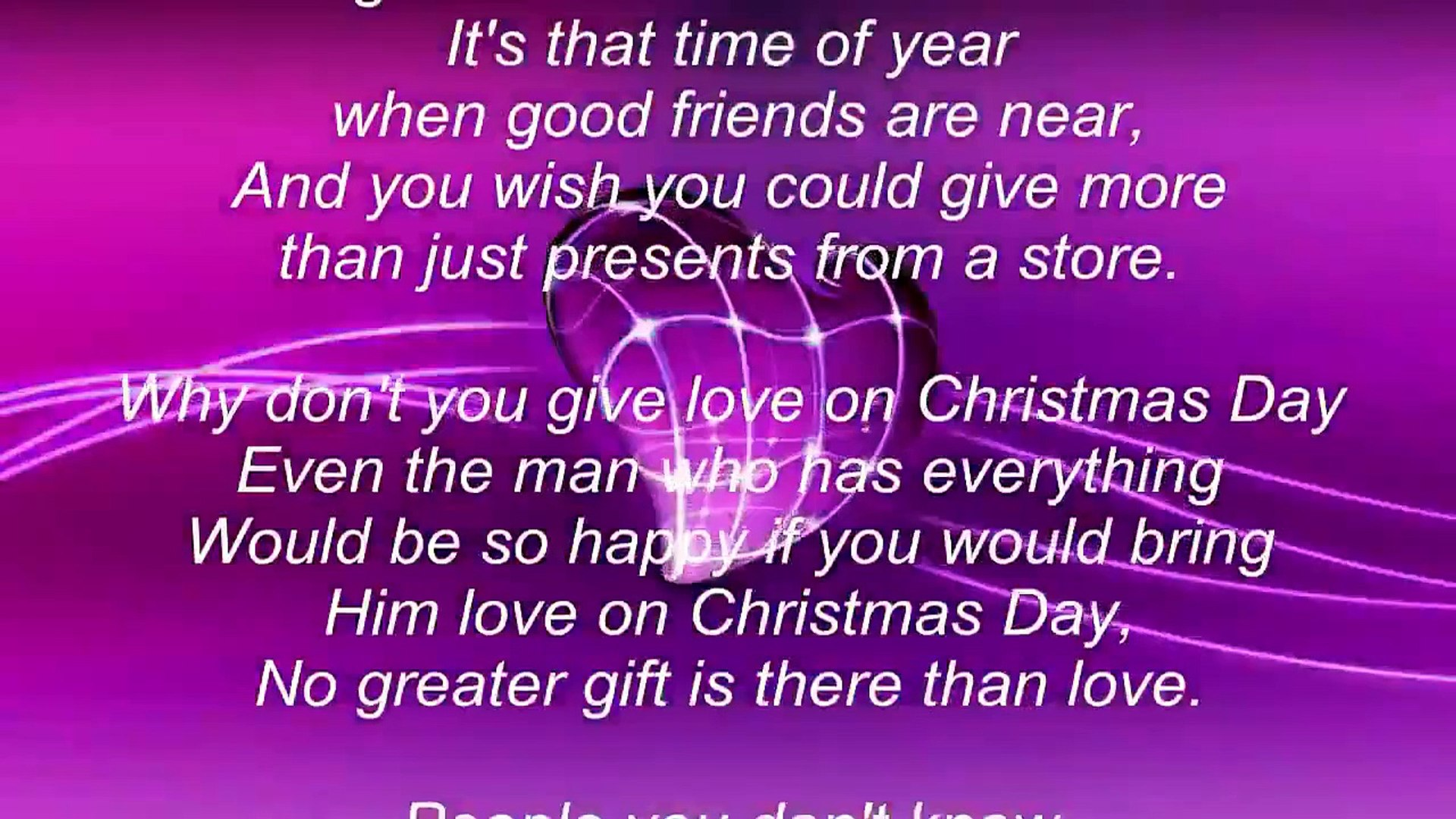 Give Love On Christmas Day.Jackson 5 Give Love On Christmas Day Song Lyrics