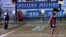 Premier tir de précision, Béziers contre Bourg-en-Bresse, Club Elite Féminin J1, Sport Boules, saison 2015 / 2016