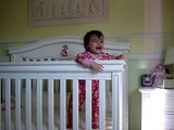 baby climbing out of crib funny videos