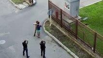 روس میں اغوا کا  ایک فلمی سین فلمایا جا رہا تھا جس کو ایک سیکورٹی گارڈ اصلی سمجھ بیٹھا