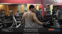 Bench Press Practice - Free Weights Chest Workout By The Strong Brothers