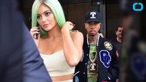 Tyga Kisses Kylie Jenner During Concert Performance