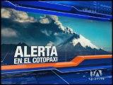 Instituciones educativas participan en simulacro ante posible erupción del Cotopaxi