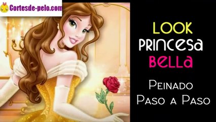 PEINADO PRINCESA BELLA ¡Paso a Paso con Peluquina!