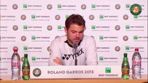 31. Press conference Stanislas Wawrinka 2015 French Open   4th Round