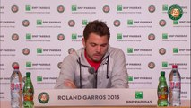 44. Press conference Stanislas Wawrinka 2015 French Open   R32