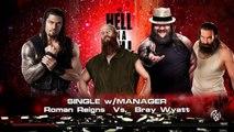Roman Reigns vs. Bray Wyatt | WWE Hell in a Cell 2015 | WWE 2K15 Gameplay