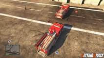 GTA 5 Online Flying Firetruck Glitch GTA V Car Slingshot Glitch Flying Fire Truck Tutorial