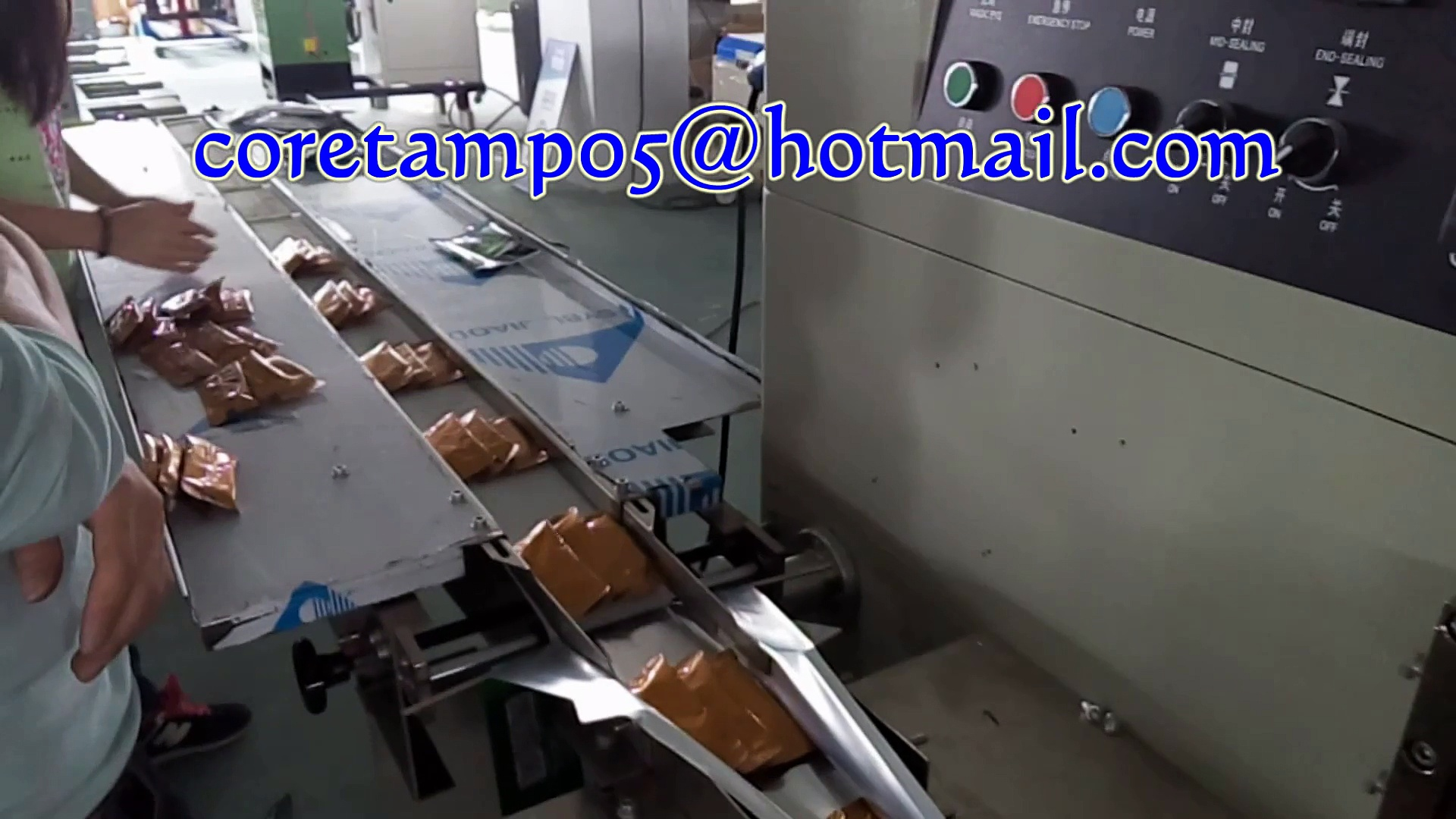 coffee plastic bag packing machine