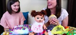 BABY ALIVE Eats Gross McDonalds, Candy & Tacos Challenge with Emma from KiittiesMama! [Full Episode]