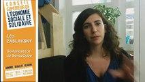Archive - Interview de Léa Zaslavsky, membre du Conseil supérieur de l'économie sociale sociale et solidaire (ESS)