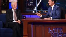 Bill Clinton Praises Donald Trump on 'Late Show' 'He's the Most Interesting Character Out There'