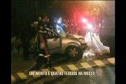 Acidente deixa uma pessoa morta e quatro feridos