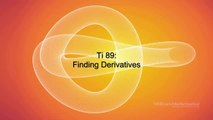 How to Find Derivatives using your TI 89 calculator