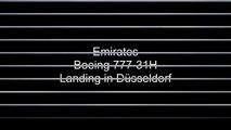 Emirates   crosswind landing Düsseldorf Boeing 777-300 A6-EMQ
