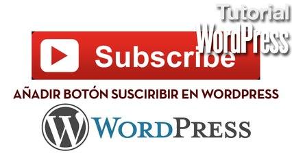 Añadir botón de suscripción a canal de Youtube en WordPress