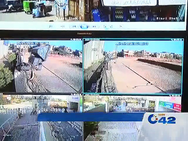 Markets are monitoring by security cameras from Model Town operation room