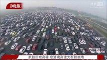 Les impressionnants bouchons de retour de vacances à Pékin (CHINE)