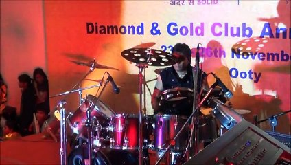 sangeet -teri galiyan- ek villain by drummer nikhil shah BEATERS