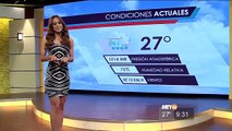 Yanet Garcia et la météo au Mexique