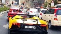 Il accélère au feu rouge et met le feu à sa Lamborghini Aventador Roadster