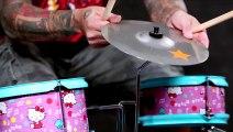 Un batteur Metal peut-il jouer avec une batterie Hello Kitty
