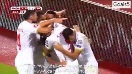 Aleksandar Kolarov Goal Albania 0 - 1 Serbia Euro Qualification 8-10-2015