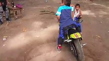 bike stunt -small boy-small bike