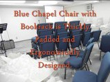 """Blue 21"""" Church Chair w Rack - Discount Folding Chairs Tables Larry"""