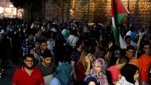 Arab Israelis demonstrate in support of Palestinians