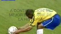 Gol de falta Roberto Carlos en 1997 // Free kick goal by Roberto Carlos in 1997