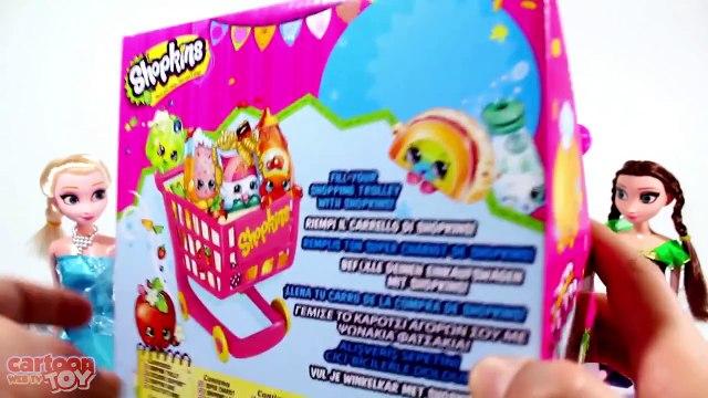 Shopkins Shopping Cart Play Set with Frozen Anna & Elsa