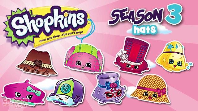 Shopkins Season 3 Hats Characters By Cartoon Toy Webtv Dailymotion Video