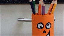 Easy Recycled Crafts for Kids Pumpkin Holder for Pencils by Recycled Bottles Crafts